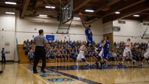 Cougar goes for a layup.