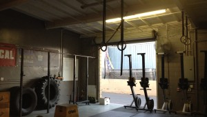 Local crossfit gym. Photo taken by Rachel Gallego.