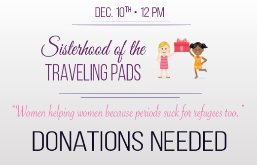 Student initiative to bring feminine products to Syrian refugees