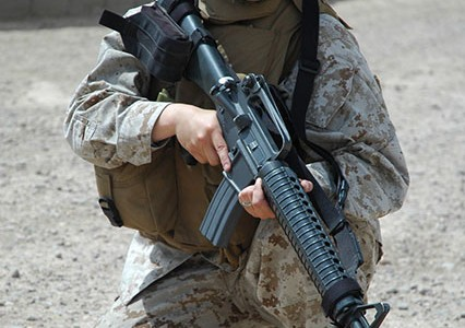 Veteran encourages women in the Marines to lead by example to empower one another