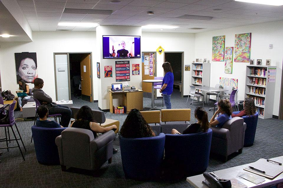 CSUSM students listened to an hour long presentation from Abby Stein as she recounts her childhood struggle with gender identity in the Gender Equity Center.