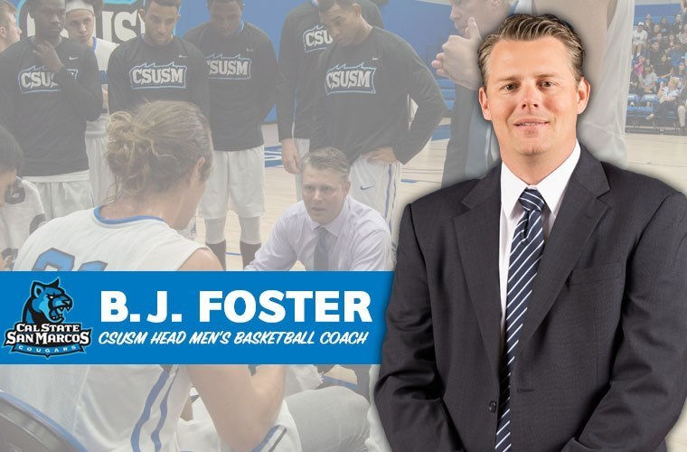 B.J. Foster is officially named head coach of the men's basketball team