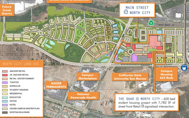 Csu San Marcos Campus Map.City Planning University Village Development Around Campus The