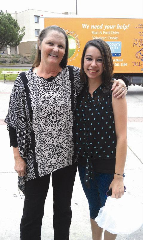 Dr. de Ghetaldi with student Katlin Sweeney