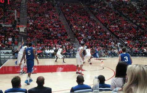 Cougars and Aztecs in action on the court