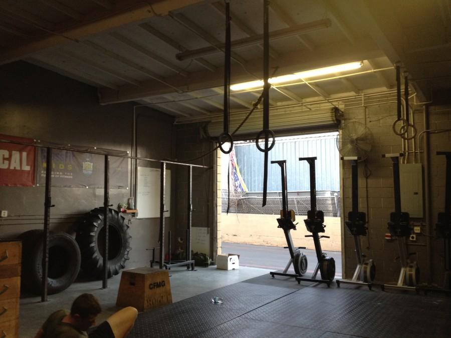 Local crossfit gym. Photo taken by Rachel Gallego.