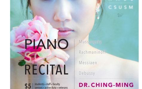 Professor fuses music, visual art in piano recital