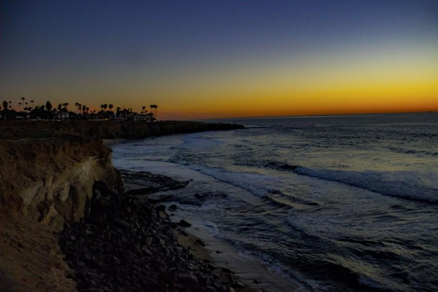 A sunset hike around Sunset Cliffs in San Diego is one way to celebrate Valentine's Day.