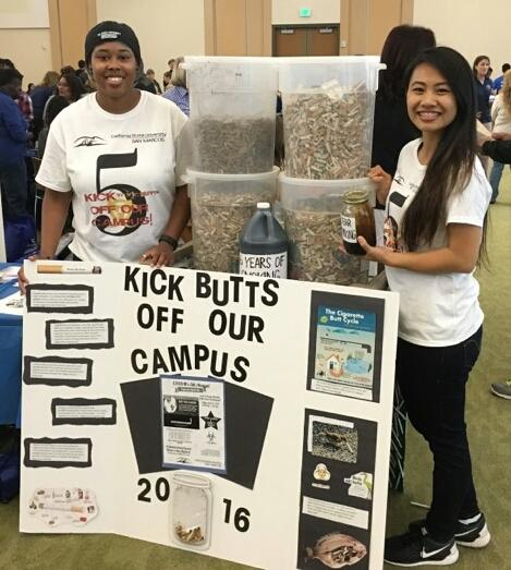 CSUSM hosts fifth annual cigarette clean­up