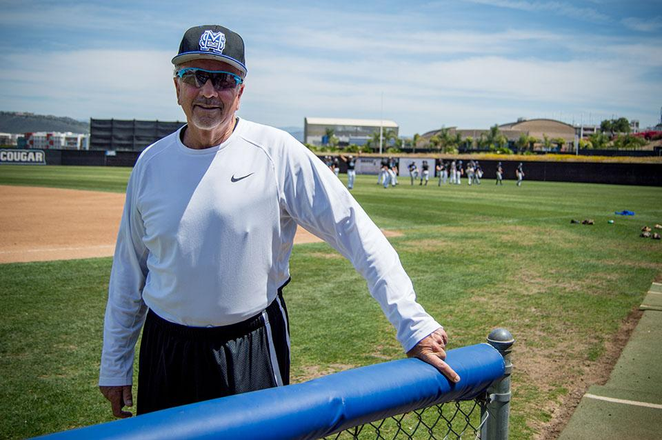 Coach Pugh poses during baseball practice on Thursday, April 21.