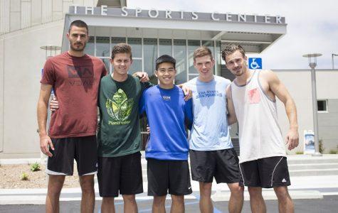 Left to right: Luka Stevanovic, Zach Sheppard, Yuki Hata, Parker Radford, and Thor English