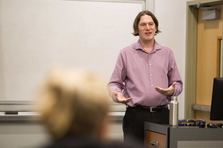 Author Martin Seay speaks on campus