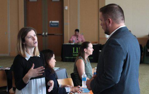 Recruiters help students interested in grad school