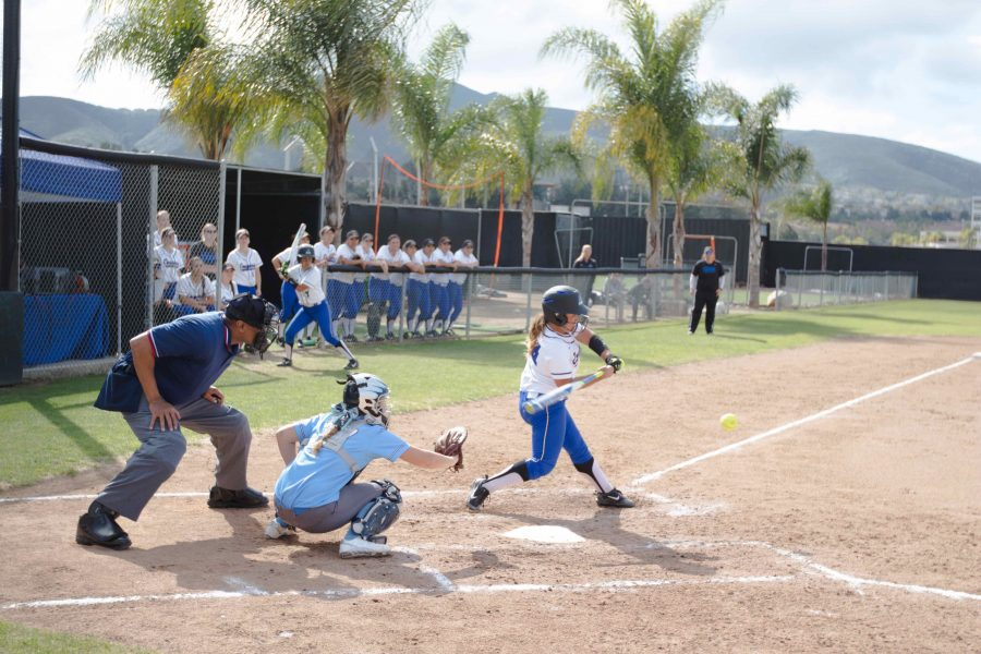 Softball falls short in doubleheader against San Diego Christian