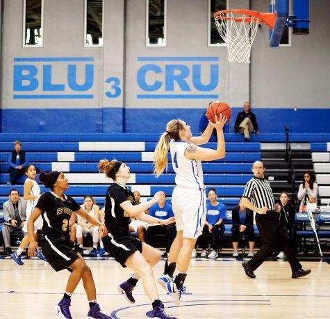 CSUSM Women's Basketball slam-dunks San Francisco