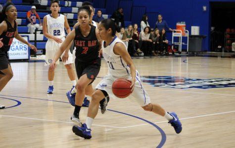Women's basketball fall short on senior night