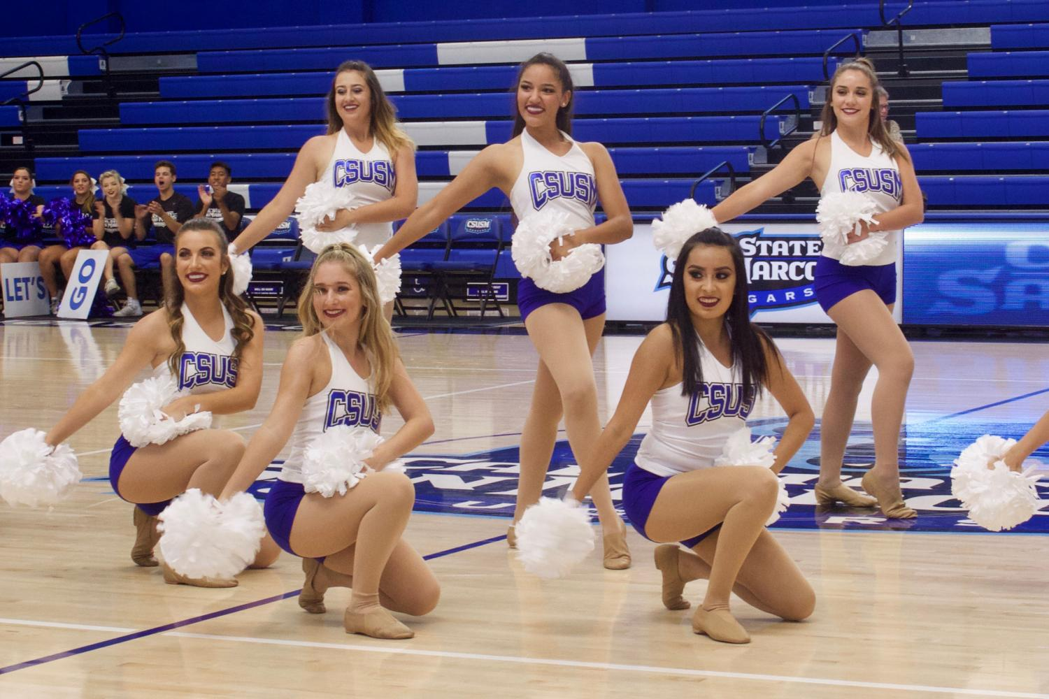 On Thursday Aug. 31 CSUSM's dance team kicked off the celebration of CSUSM's official acceptance into NCAA Division II at the sportcenter.
