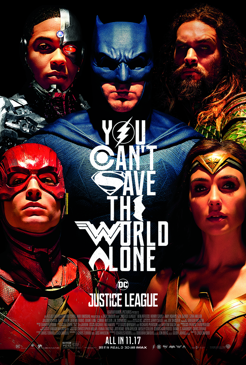Justice League is in theaters now