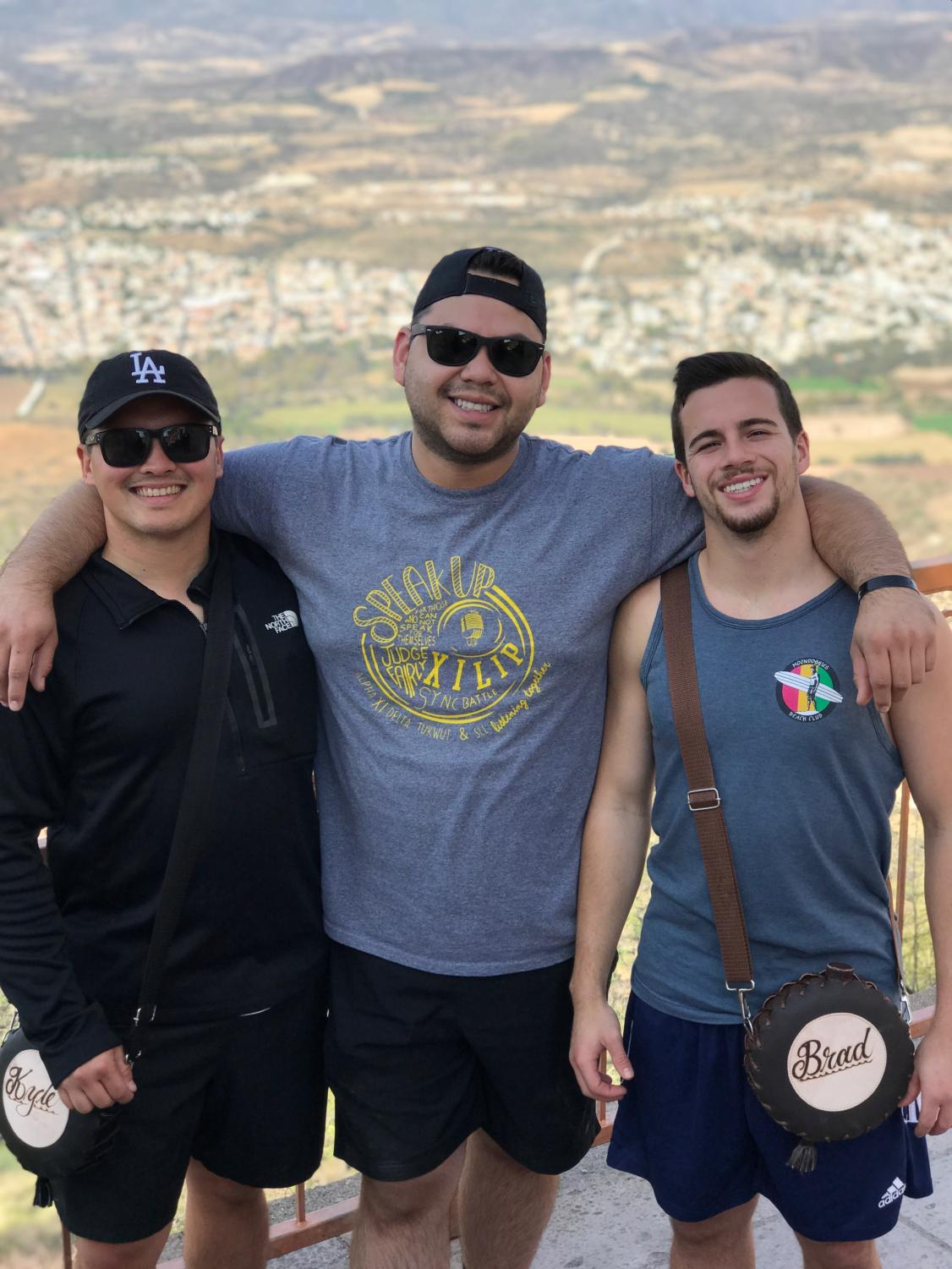 From left to right: Joe Sandoval, Kyle Azcuna and Brad Kremer in Jalpa, Zacatecas on Dec. 30, 2017.