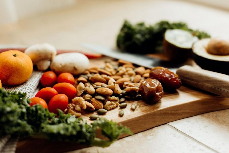 Nuts%2C+seeds%2C+fruits%2C+and+leafy+vegetables+are+versatile+staples+to++a+plant-based+lifestyle.+