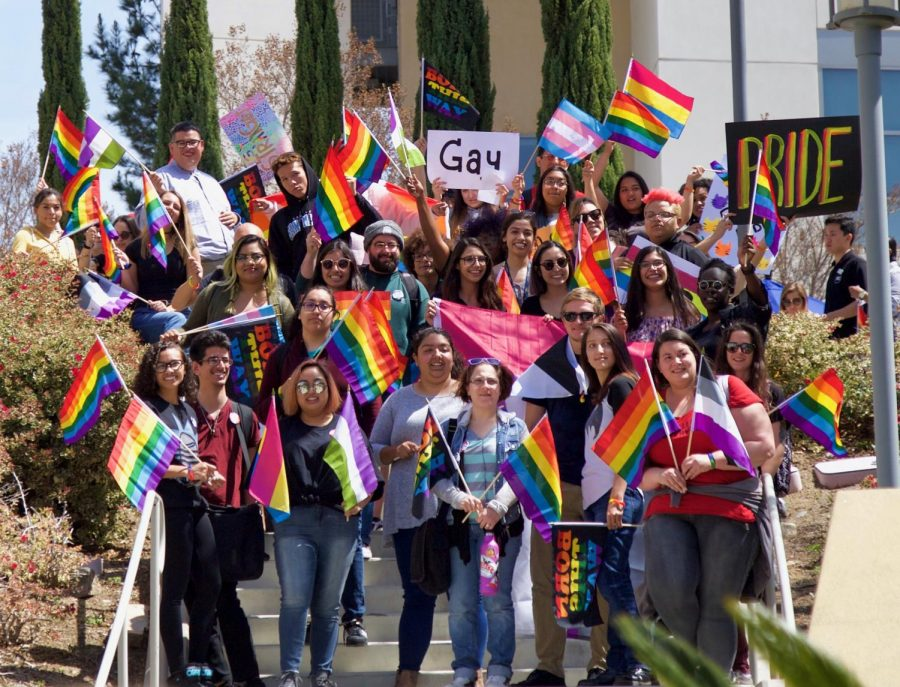 Proud+cougars+join+in+solidarity+to+walk+in+CSUSM%E2%80%99s+annual+Pride+Walk+on+Apr.+3.
