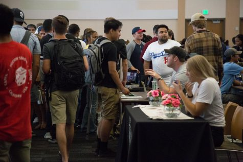 The Student Organization fair offers opportunity for involvement