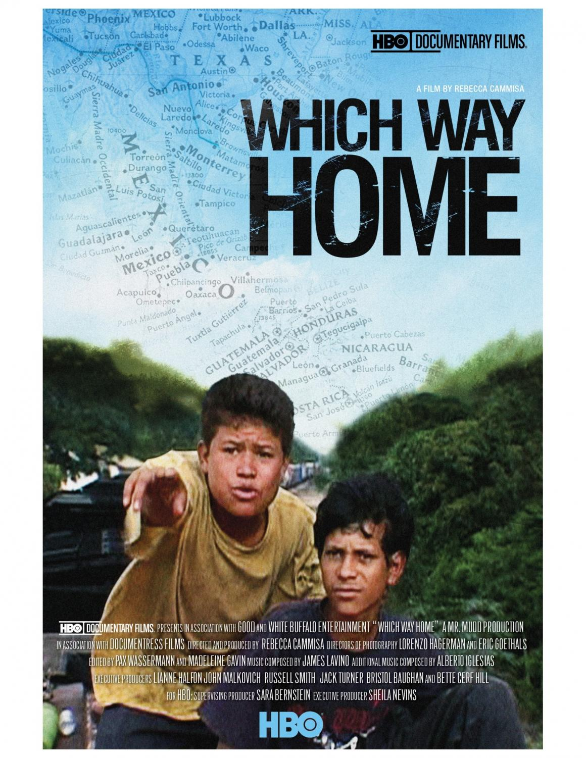Film poster for Which Way Home directed by Rebecca Cammisa.