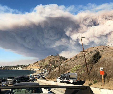 Woolsey Fire evacuation from Malibu on Nov. 9.