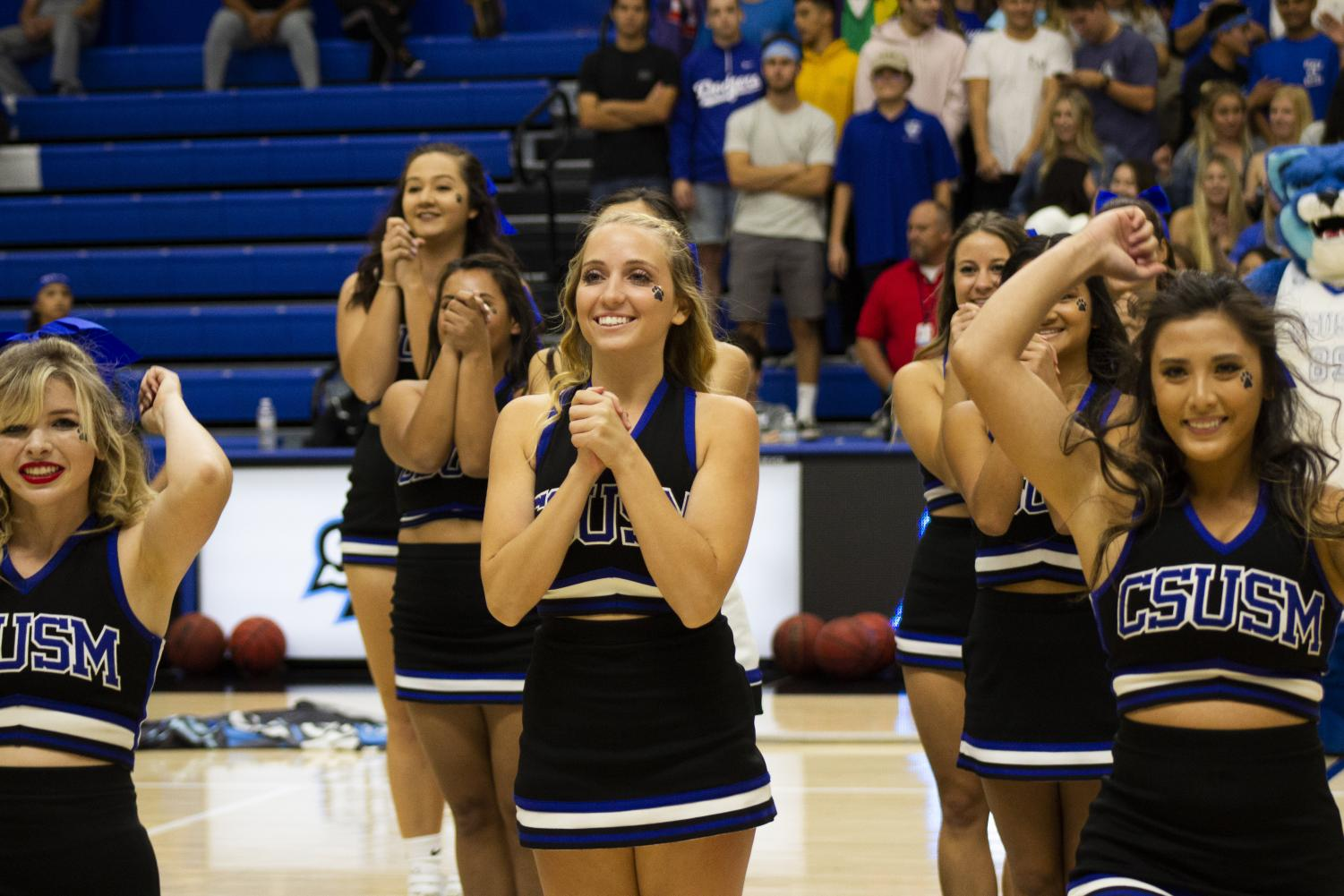 CSUSM's dance team perform at the cougar madness event on Oct.18, 2018.