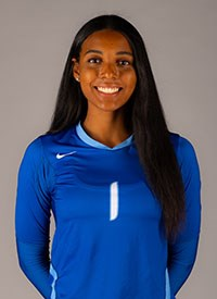 CSUSM's volleyball player Faith Fortuné poses for a photo.