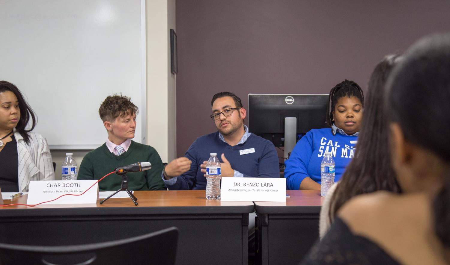 Guest speakers during the careers in social justice event at the career center on Nov.8.