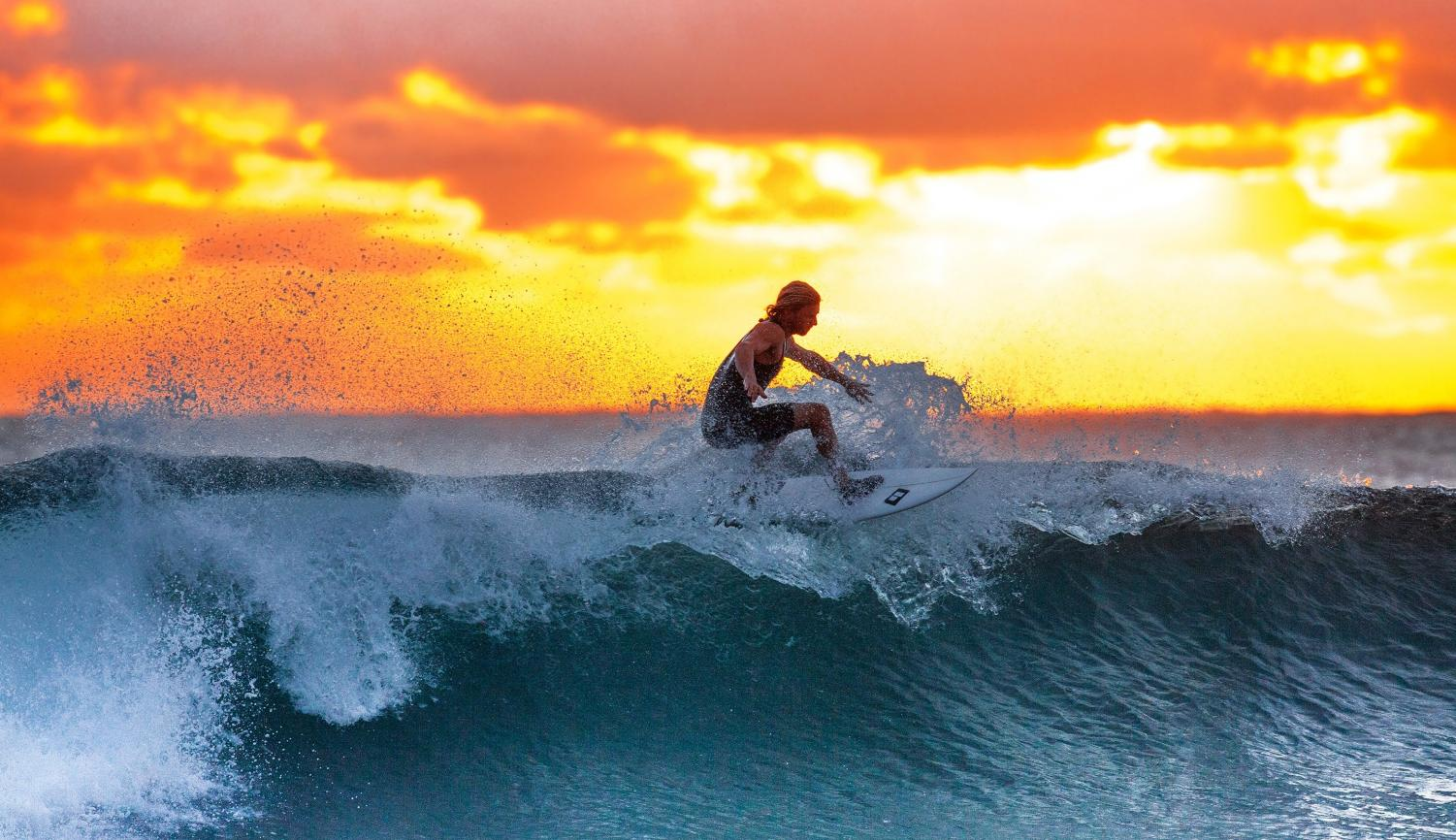 The surf team is just one of the many sports clubs available to students.