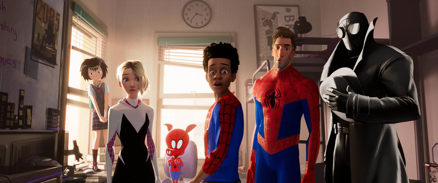 The animated superhero film stars Shameik Moore as Miles Morales and Jake Johnson as Spider-man.