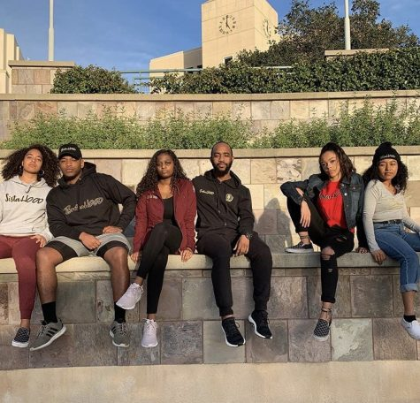Members of the Black SistaHood left to right: Gabbie Garcia, Javier Garden, Natalie Amerson, Lewis Jones, Payton Mack & Inique Wilson.
