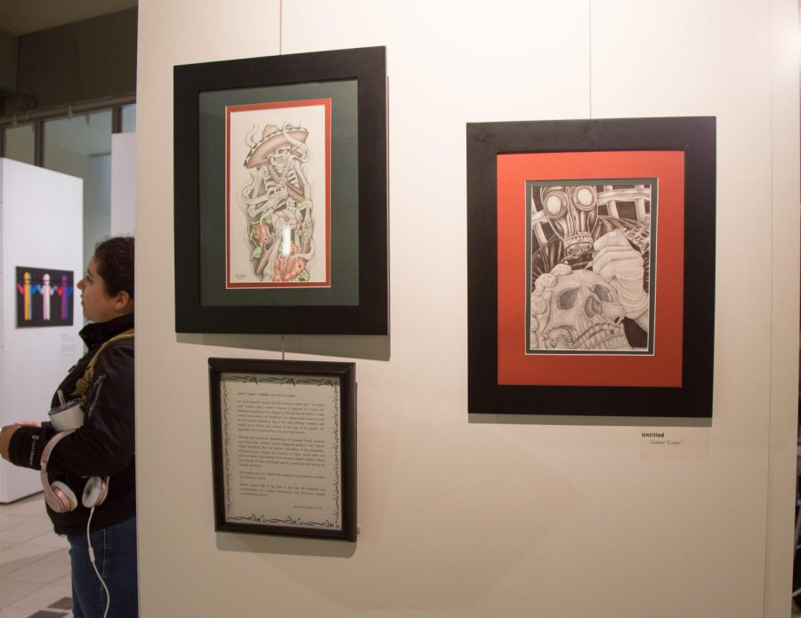 The event features several prison art installations and drawings.