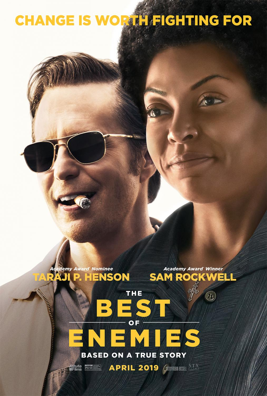 Promotional Poster for the Film The Best of Enemies.