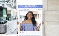 Hope and wellness center intern poses for a photo on April 9.