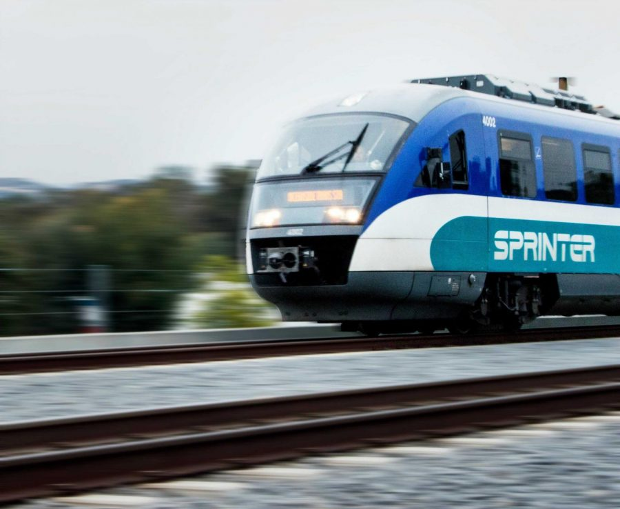 The Sprinter is a favored form of alternative transportation for some CSUSM students.