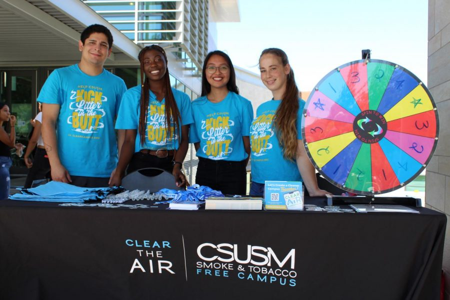 Clear The Air students advocate a smoke-free campus.
