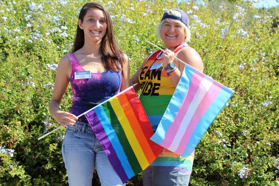 J Morales (left) and Alicia Silva (right) show their pride.