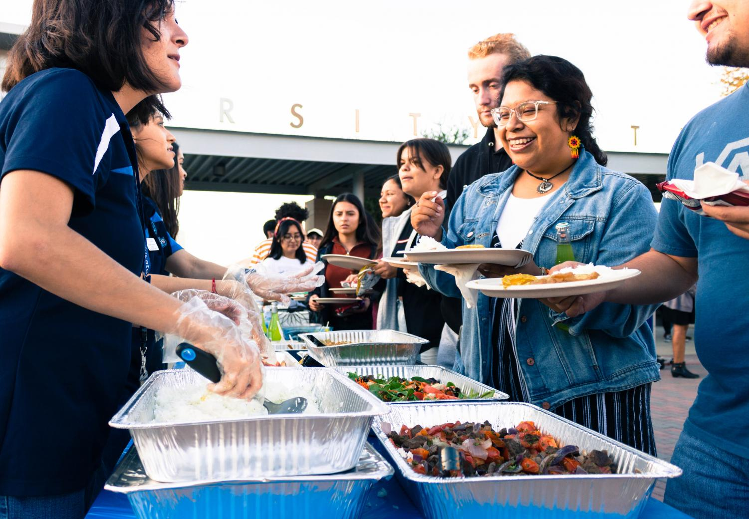 Students enjoy traditional Peruvian cuisine at the Latin American Cultural Showcase on Oct. 17.