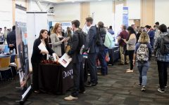 Students seek potential job opportunities