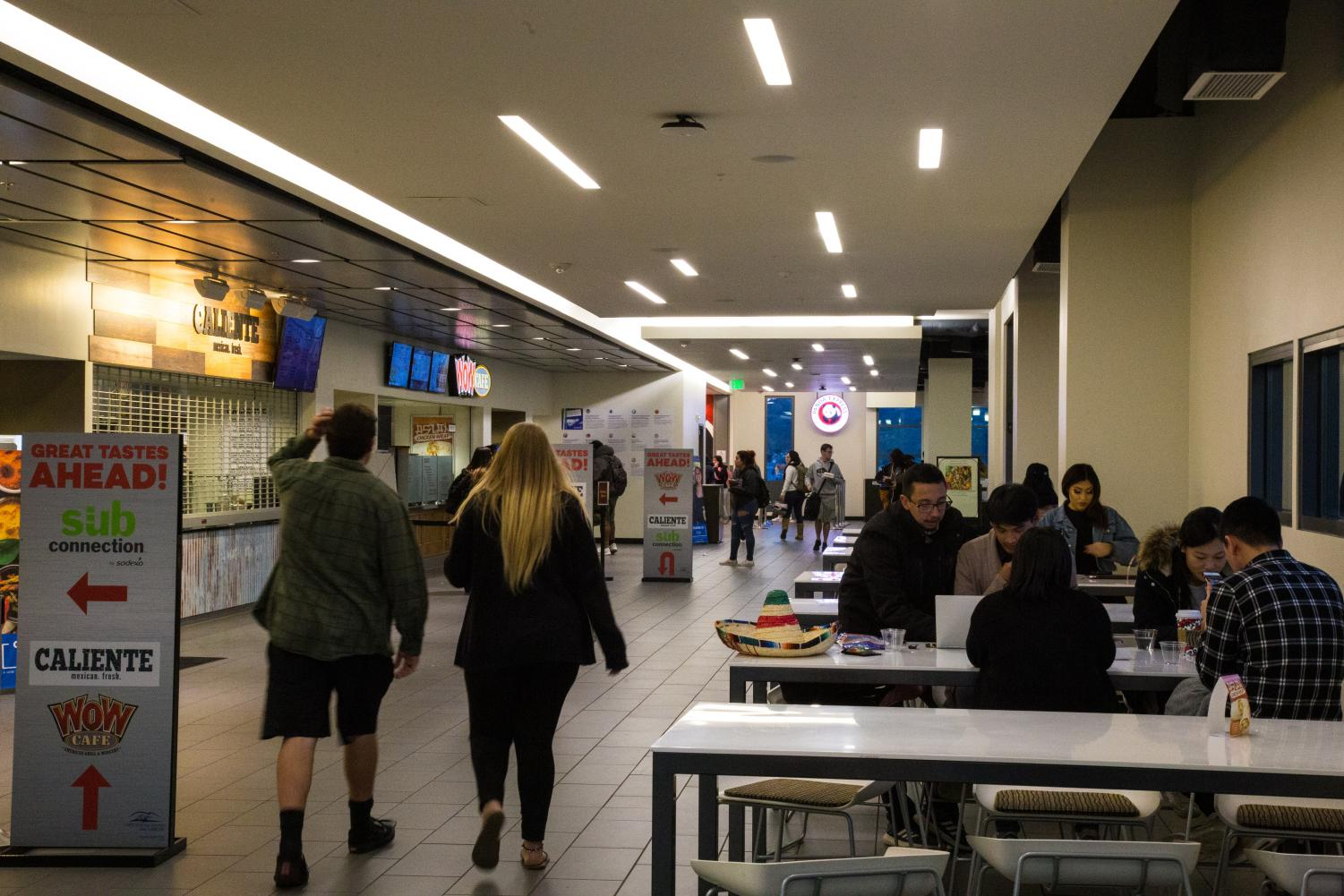 The USU Dining Hall currently offers four eateries