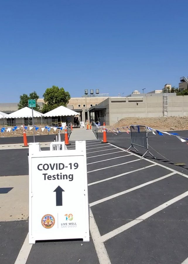 San Diego County operates a free, walk-up coronavirus testing site at CSUSM open seven days a week.