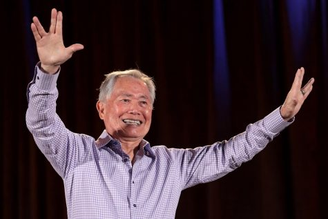 "Actor, author and Japanese internment survivor George Takei spoke at the ""One Book One San Diego"" event on Sept. 22."