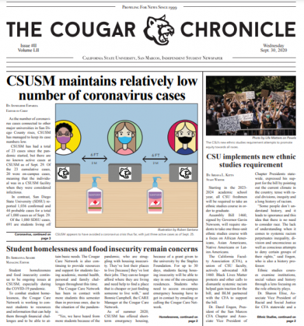 Read Edition 2 of The Cougar Chronicle (9/30/20)