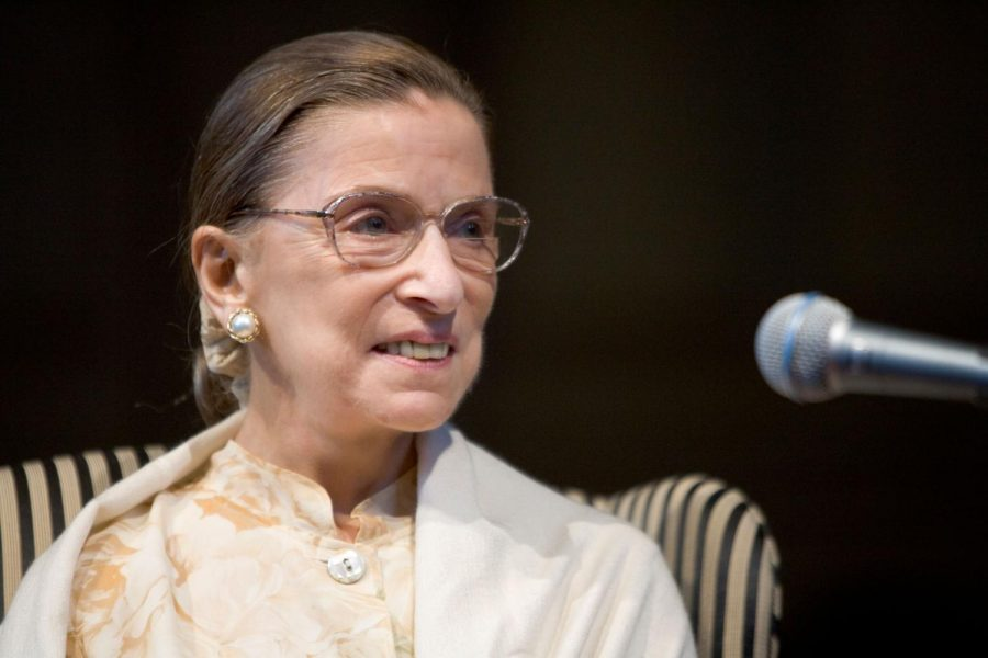 Justice+Ruth+Bader+Ginsburg+rose+to+rock-star+influence+in+the+latter+portion+of+her+career.