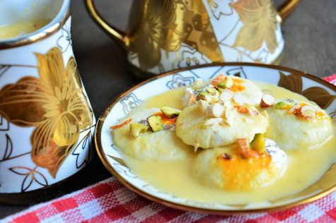 Rasmalai is a very popular Indian dessert. It's sweet and refreshing and you can follow this recipe to make it at home in ten minutes.
