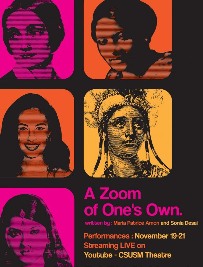 """CSUSM's theatre department put on a virtual performance called """"A Zoom of One's Own"""" live from Nov. 19-21 and now available on their YouTube channel."""