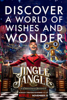 Jingle Jangle: A Christmas Journey is now available on Netflix.